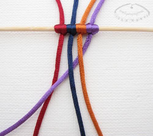 warkocz z czterech sznurków 2
