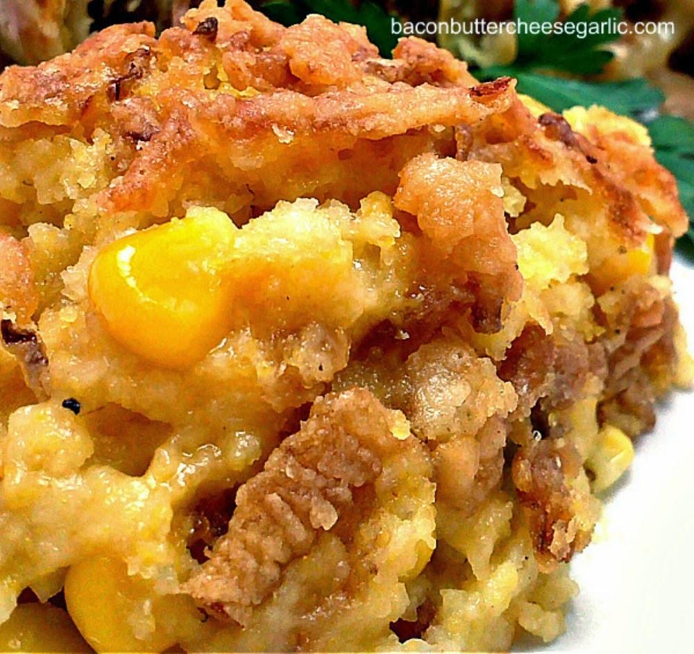 recipe: corn casserole with cream cheese and sour cream [38]