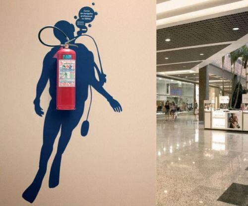 exemplos de arte urbana - Street Art - Mergulhador