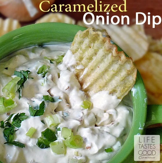 Creamy Caramelized Onion Dip | by Life Tastes Good is homemade deliciousness! I betcha won't stop at just one taste! #Shop #SauceOn #Appetizer