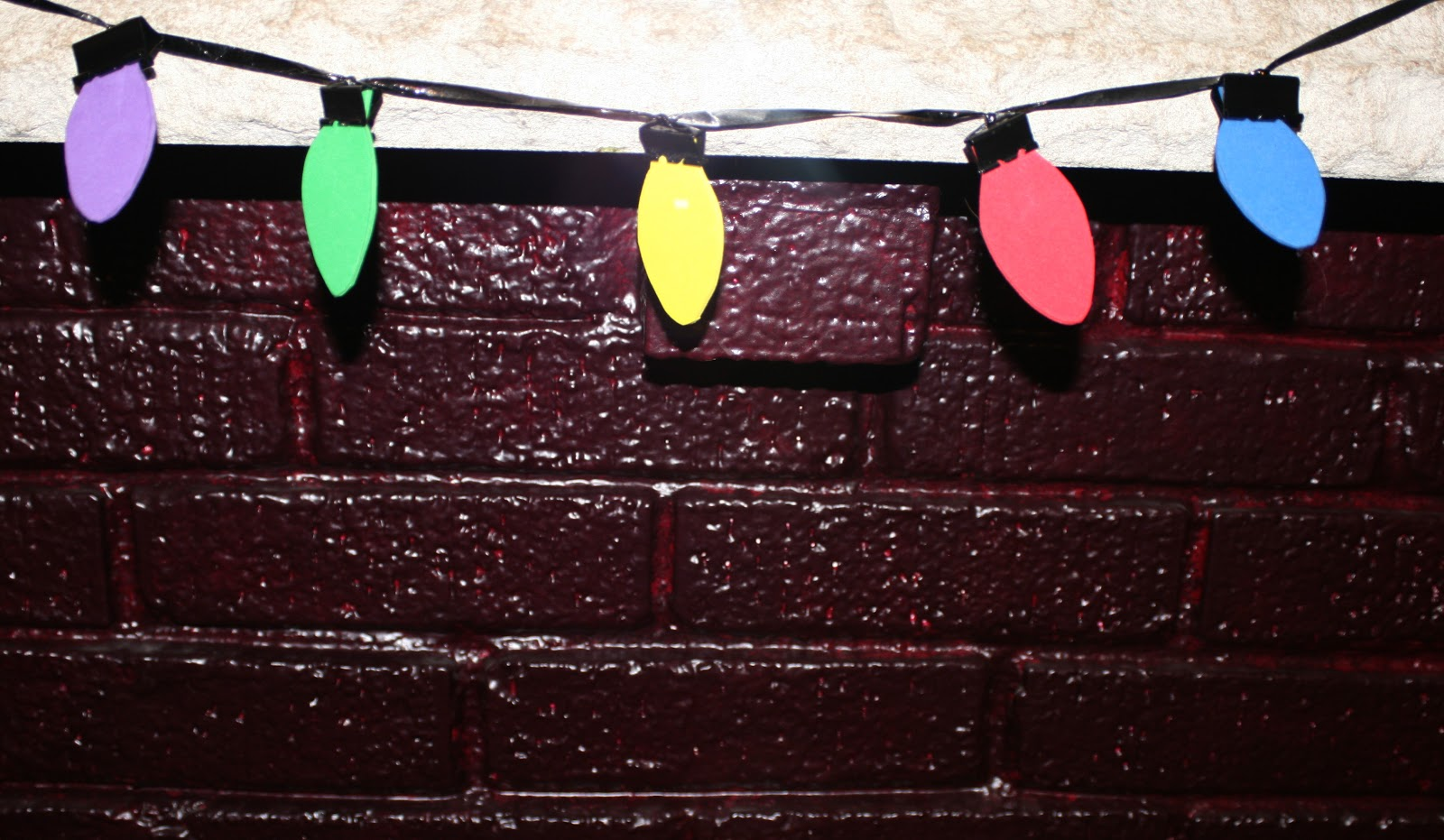 daily messes easy christmas light garland craft