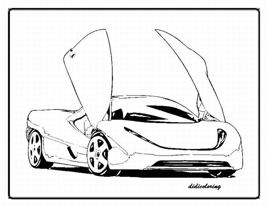 Printable Top Model Sports Car For Boys