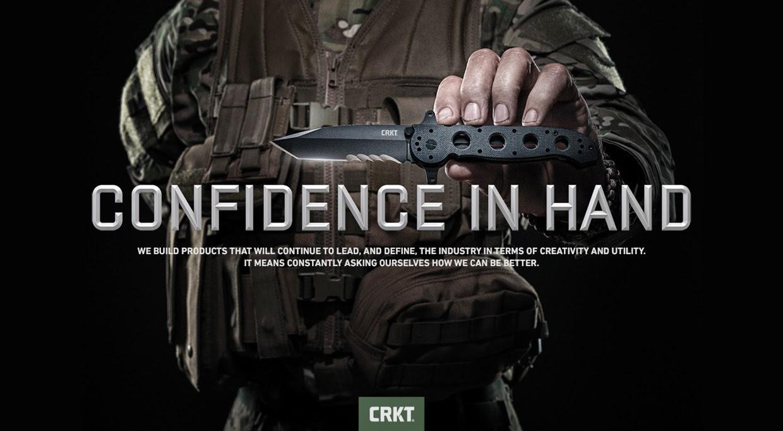 Confidence in hand - couteaux tactiques par CRKT