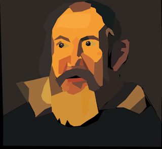 Galileo Vector Portrait