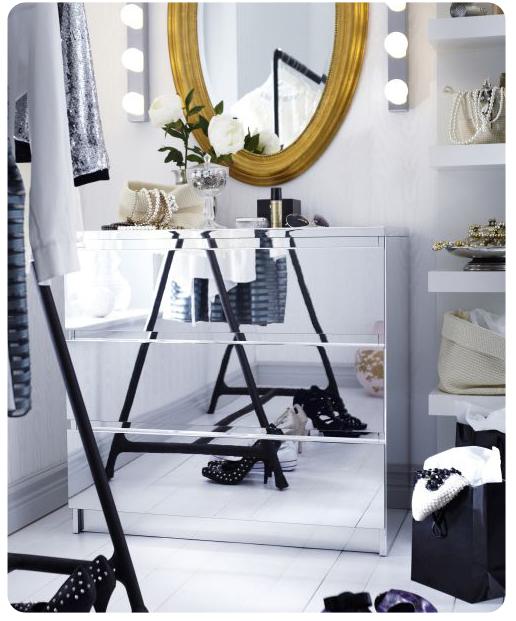 mirror front Malm dresser