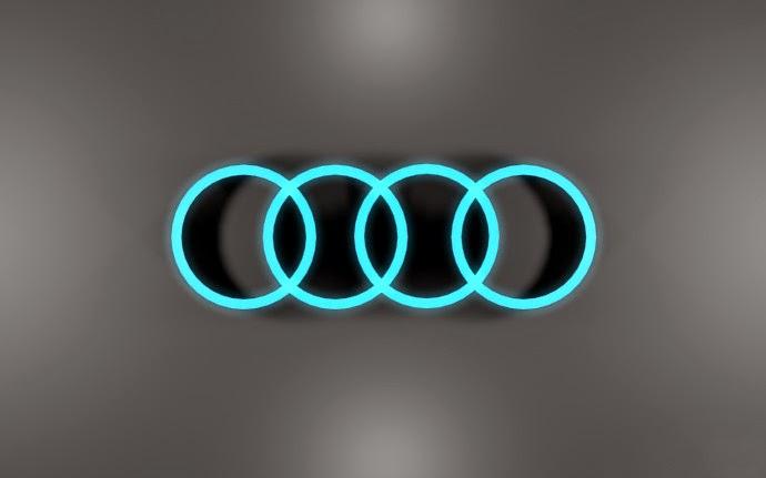 Audi Logo Blue Shinny