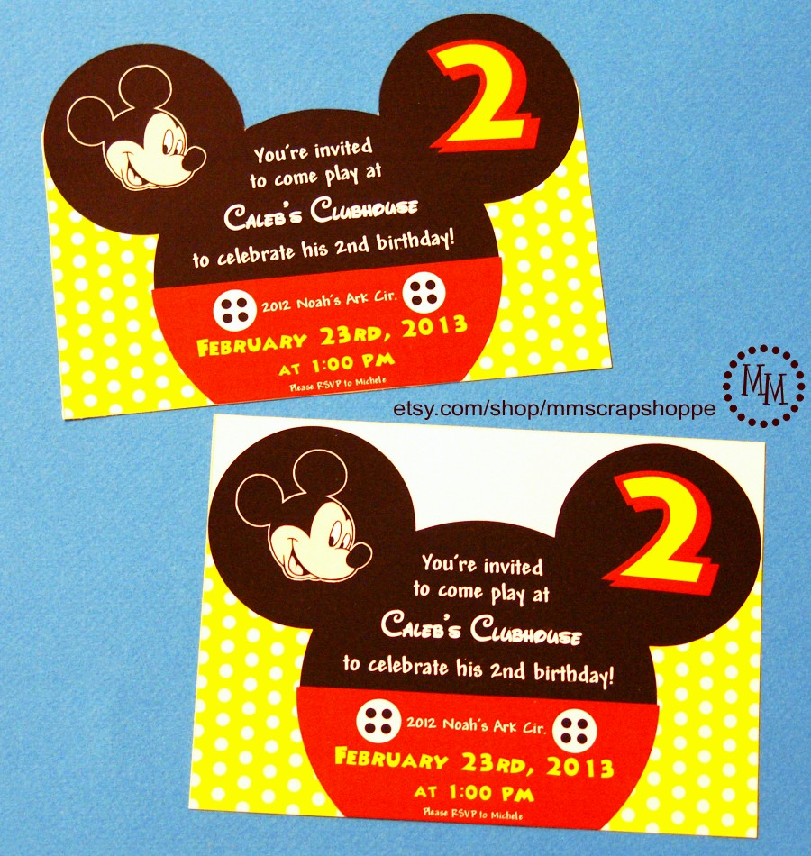 Mickey Mouse 2Nd Birthday Invitations is the best ideas you have to choose for invitation example