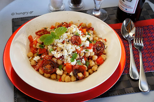Chickpea Salad with Roasted Tomatoes