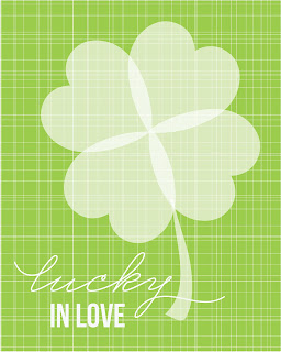 luckyinlove artprint *Dont* Kiss Me, Im only a *1/4* Irish (DIY St Patricks Day Mantel)
