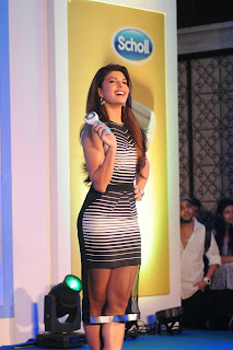 Actress Jacqueline Fernandez  Pictures in Short Dress at The Launch Of Scholl Velvet Smooth Express Pedi Electronic Foot File In Four Seasons  17