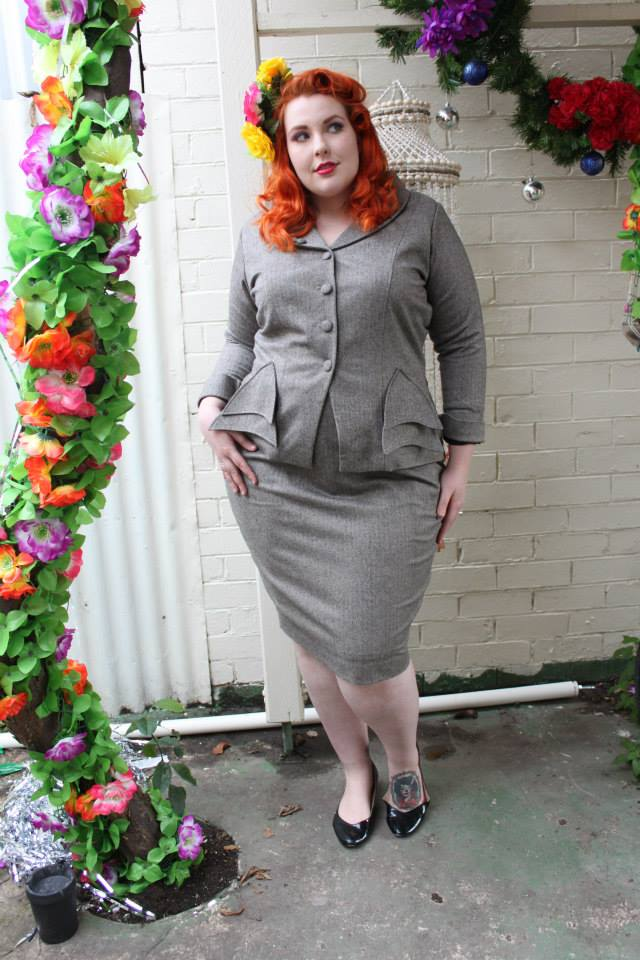 bombshell vintage plus size julie suit