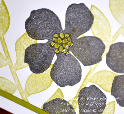 Flower with embossed centre made with Secret Garden from Stampin' Up