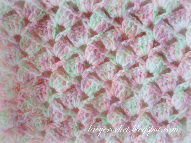 Free Baby Afghan Crochet Patterns : Lacy Crochet: Summer Baby Blanket in Variegated Yarn, Free Pattern