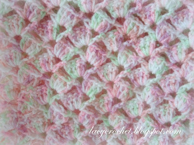 Lacy Crochet Summer Baby Blanket In Variegated Yarn Free
