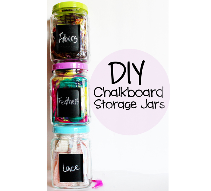 DIY Chalkboard Storage Jars by SewCal Mama