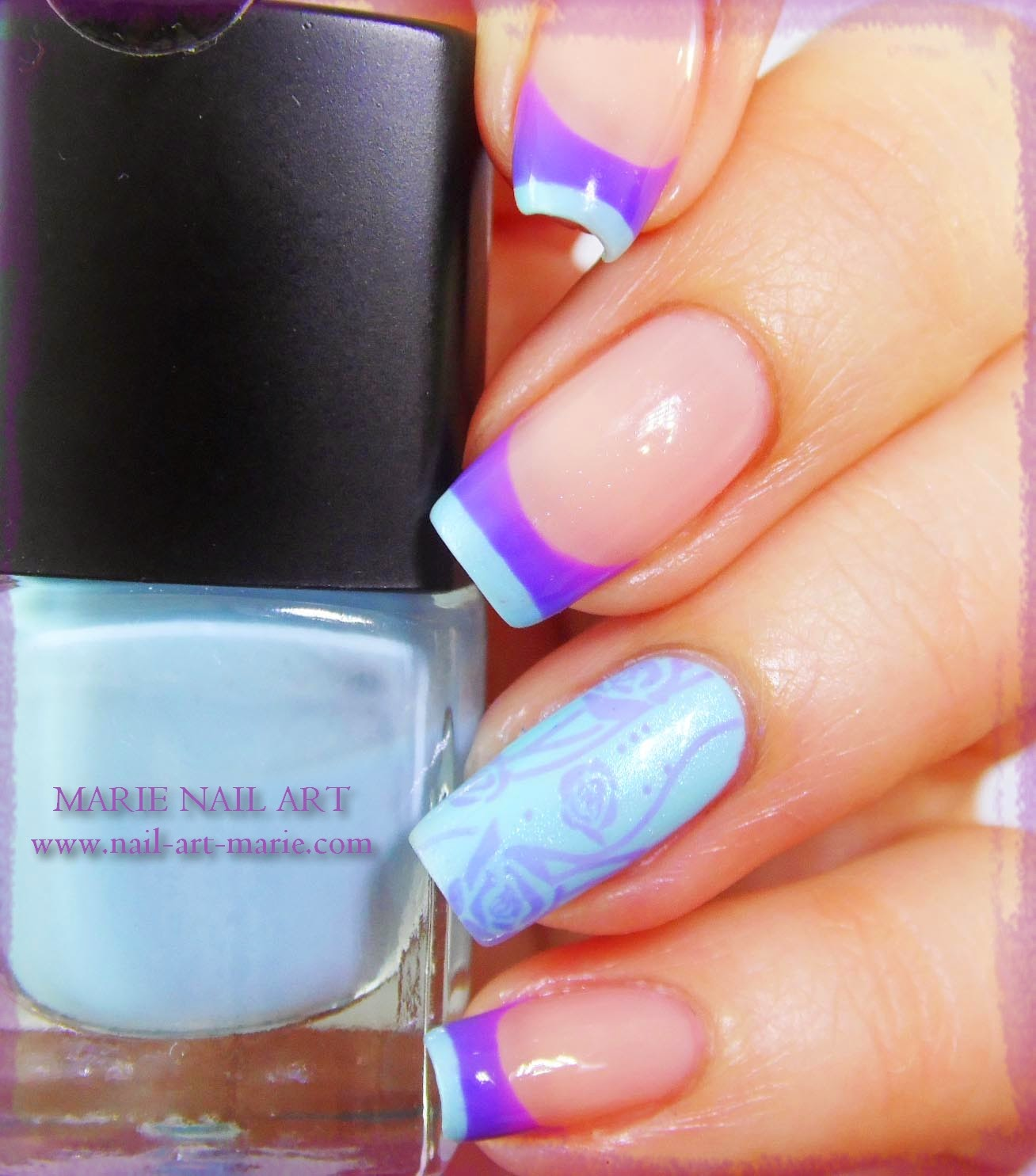 Nail Art Double French Thermique9