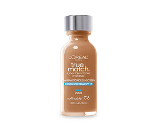 L'Oreal true match Super Blend-able foundation in soft sable, C6.