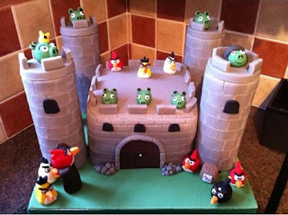 angry birds cake decoration