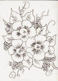 risco de flores para pintar