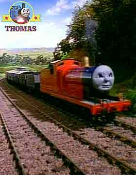 Thomas and friend James and the Troublesome Trucks heavy freight train approached Gordon's hill top