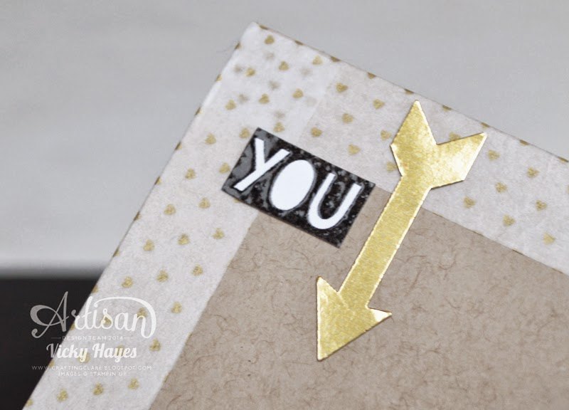 Use arrows to draw the eye down with the What's Up punch from Stampin' Up