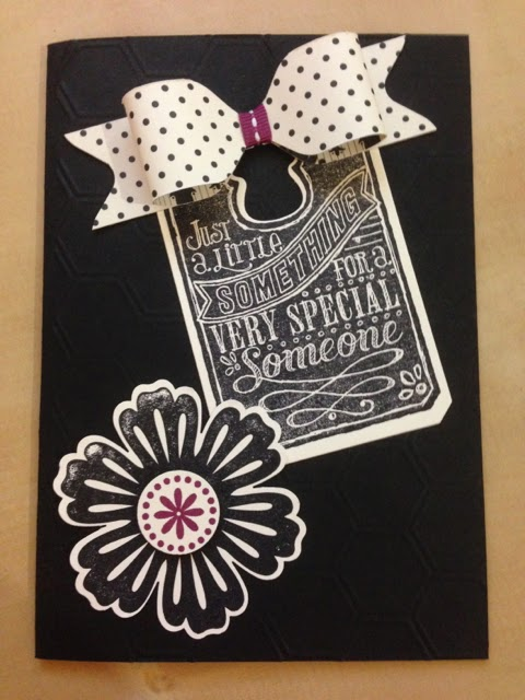 card made with the Chalk Talk and Mixed Bunch stamp sets