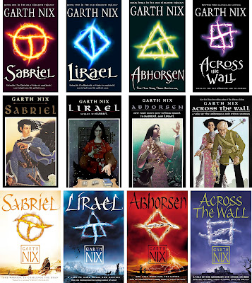The Different covers of the ABHORSEN / OLD KINGDOM by Garth Nix