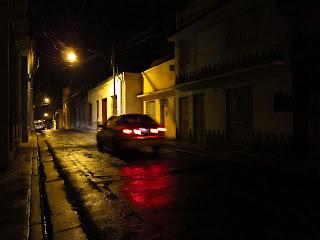 Santiago de Cuba wet night