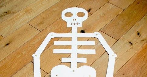 Eu amo artesanato esqueleto humano com molde para escola for Como criar peces para consumo humano