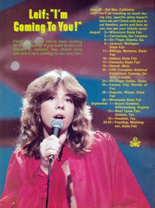 RECORTES DE PRENSA - Página 8 Leif+Garrett+-+1979+summer+tour+dates