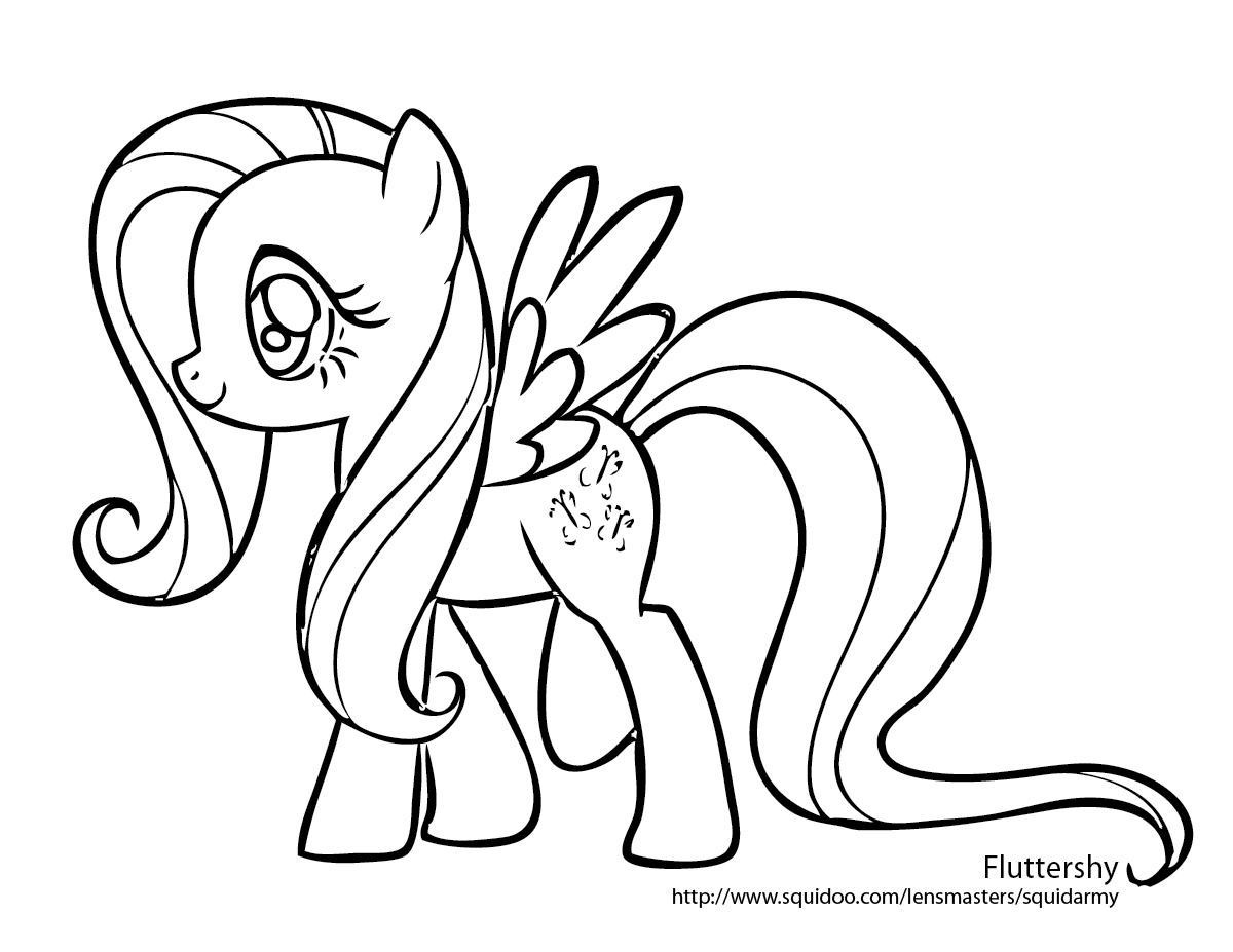 kids pony coloring pages - photo#11