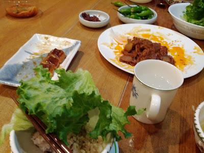 Spicy Korean pork and unagi