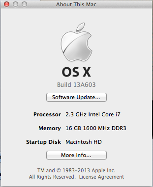 OS X Mavericks Golden Master