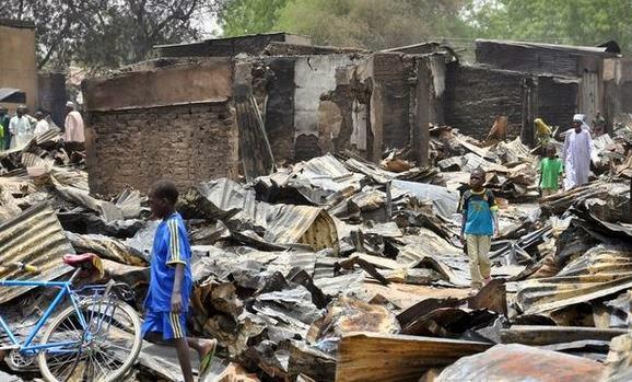 boko haram destroy houses in adamawa