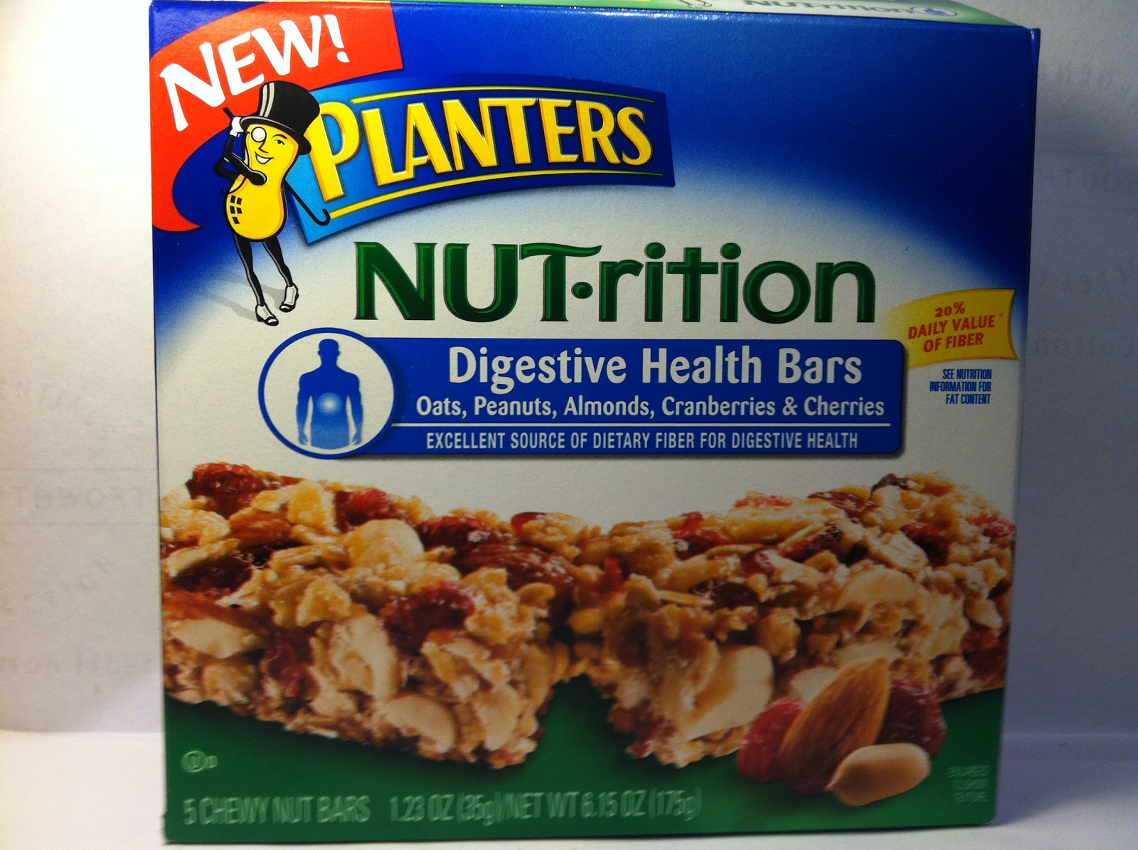 Crazy food dude review planters nut rition digestive for Food bar health