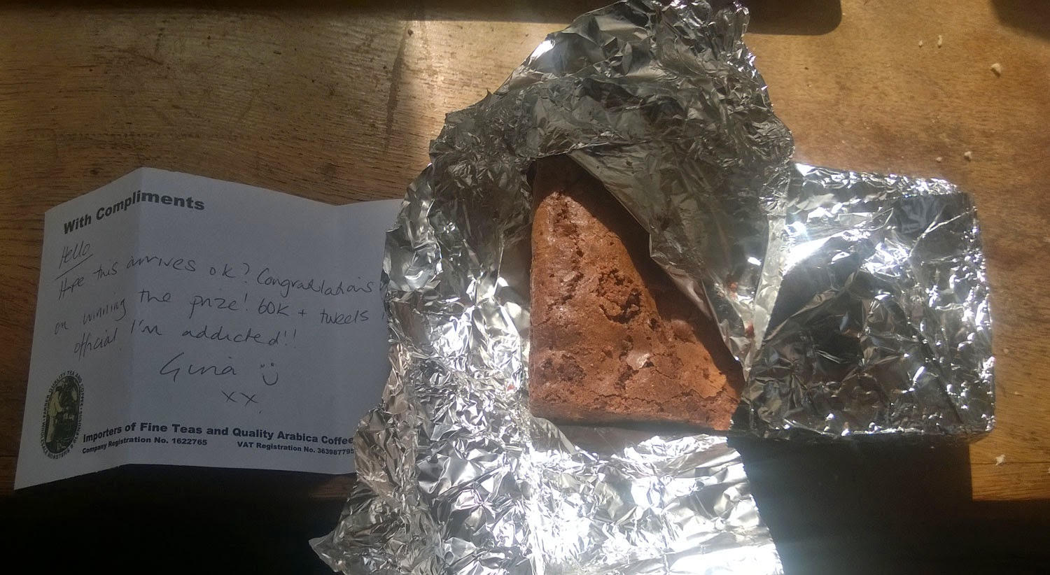 The other gift; chocolate brownie