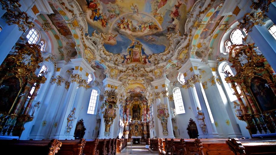 Near the Neuschwanstein Castle Wieskirche