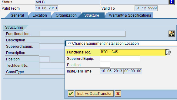 how to create functional location in sap pm