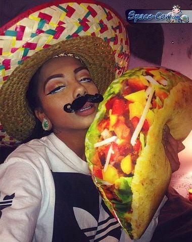 funny taco girl costume