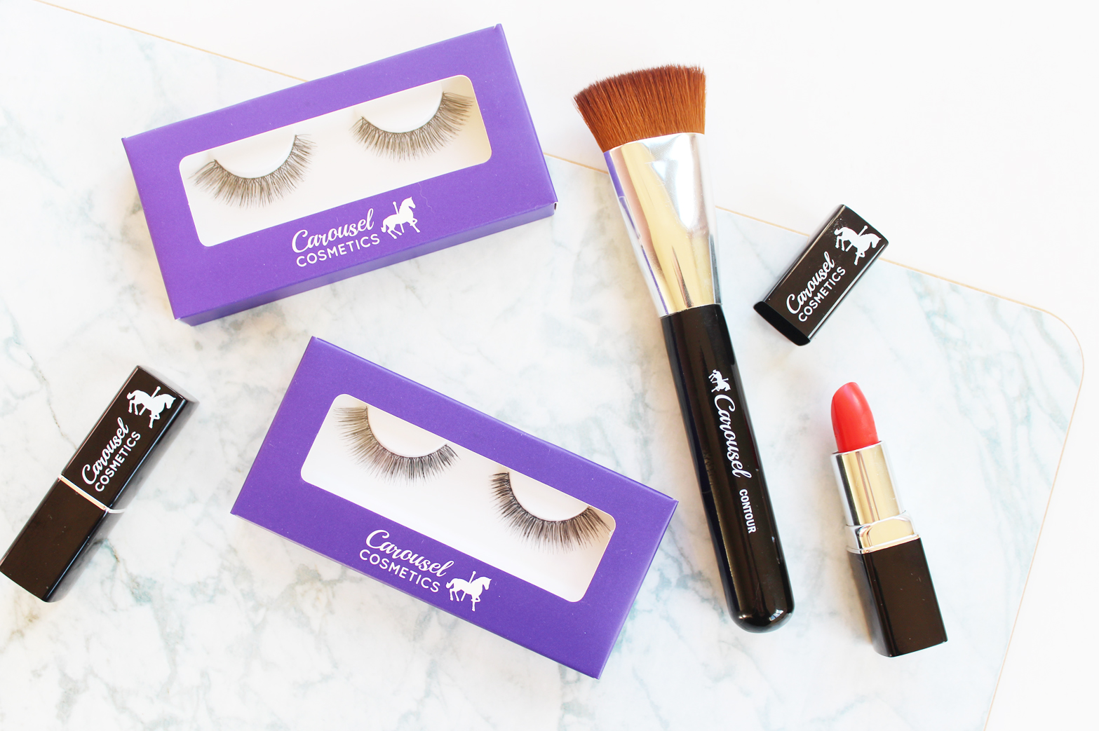 CAROUSEL COSMETICS | Lashes + Contour Brush Review - CassandraMyee
