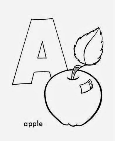 Printable Alphabet Coloring Pages Apple