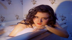 Jasmine bathing scene from Movie Veerana