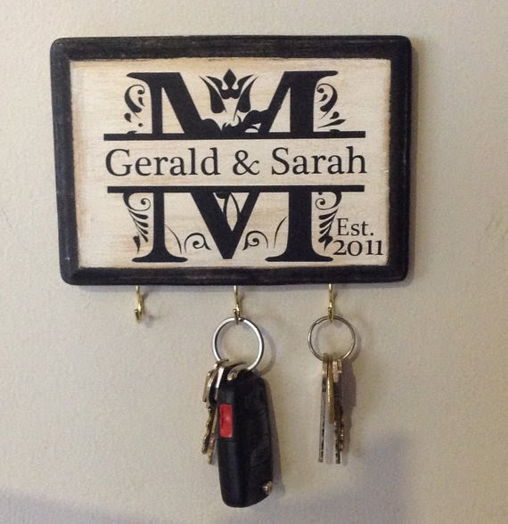 personalized wedding key holder