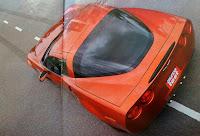 cola baul atras Chevrolet Corvette Z06