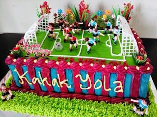 Ide Unik Kue Ulang Tahun Anak Laki-Laki tema Sepak Bola