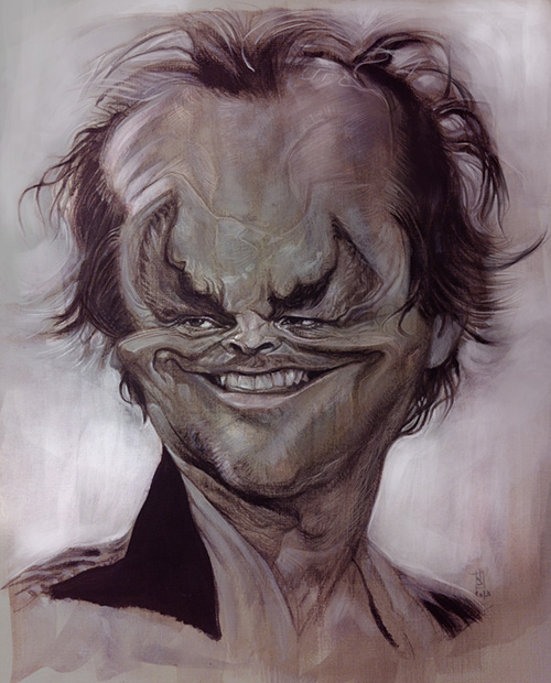 """Caricature of """"Jack Nicholson"""" by Alberto """"Sting"""" Russo"""