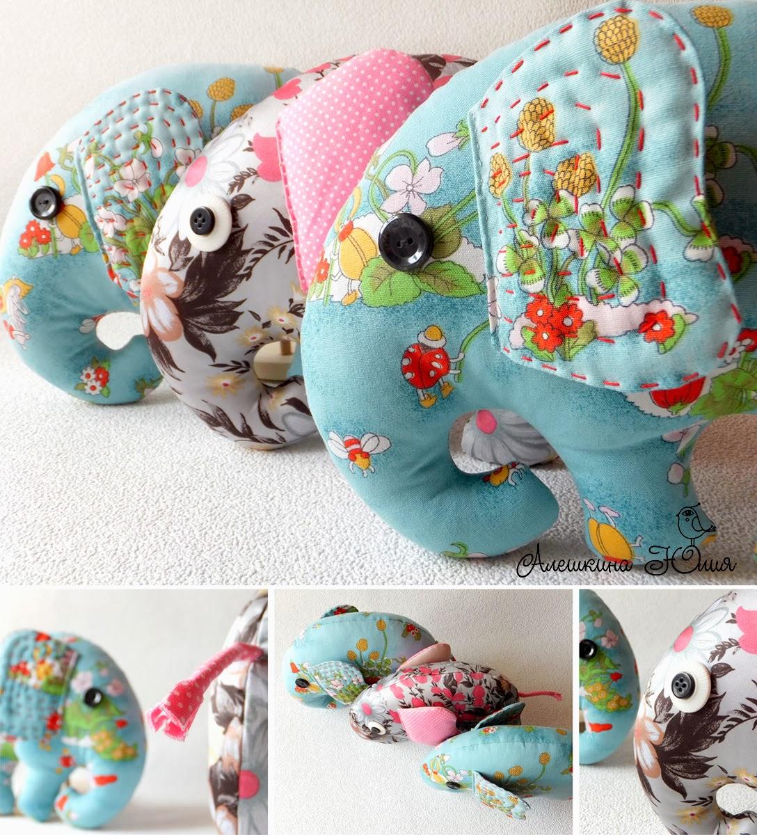 Текстильные слоны