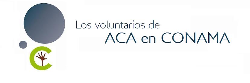 Los voluntarios de ACA en CONAMA