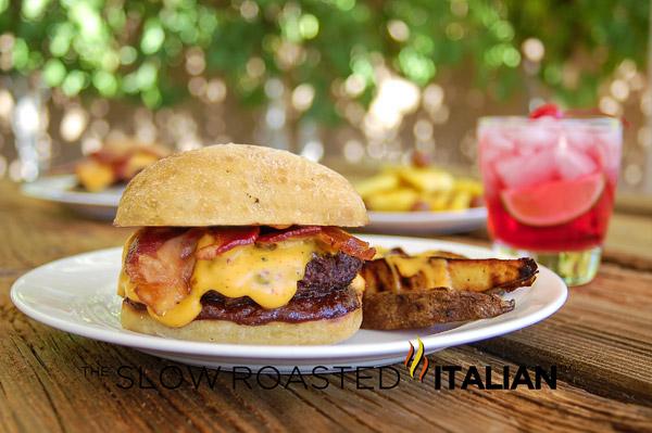 TSRI's Barbecue Bacon Beer Cheddar Smokehouse Burger