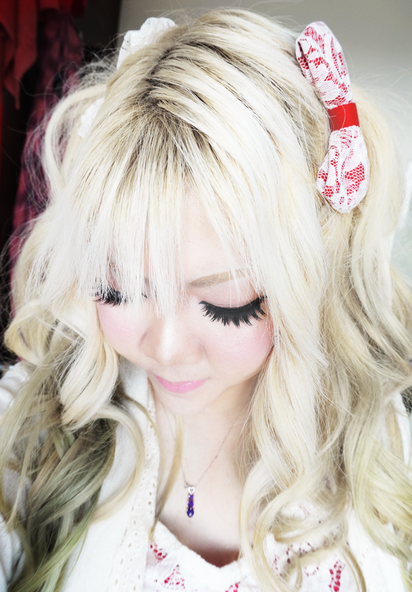 gyaru cute lace hair bow